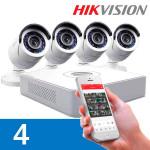 Видеонаблюдение на 4 камеры