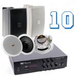 Комплекты акустики для помещения 150кв.м