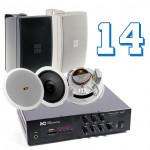 Комплекты акустики 14 динамиков