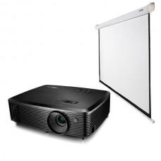 1920х1080 (Full HD) проектор с ручным экраном