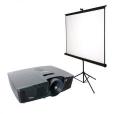 Проектор (1280х800) с мобильным экраном