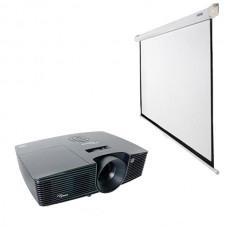 Проектор (1280х800) с ручным экраном